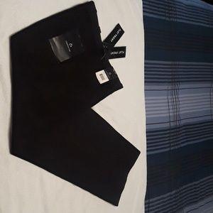 New Claiborne pinstripe men's black slacks 32 x 30